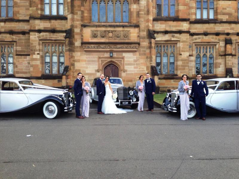 Sydney University wedding cars photo