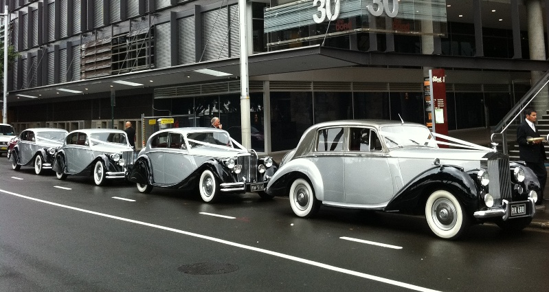 wedding car combination with the Rolls Royce as lead bridal car